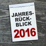 Kalender mit Jahresrückblick 2016